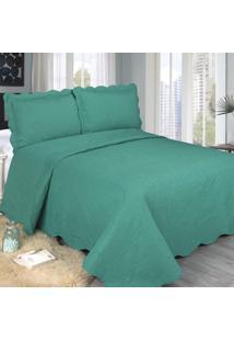 Colcha Barroque Verde King Size 260X280Cm Camesa
