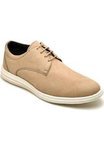 Sapato Casual Em Couro D&R Shoes Masculino - Masculino-Bege