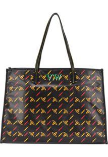 Vivienne Westwood Bolsa Toe Com Estampa - Preto