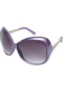 Óculos De Sol Arredondado - Roxo & Pretocarmim
