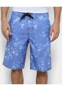 Bermuda Watkins&Krown Estampada Masculina - Masculino-Azul