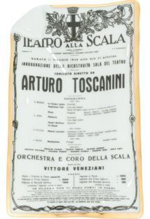Fornasetti Bandeja Teatro Alla Scala - Branco