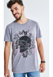 Camiseta Marmorizada Caveira