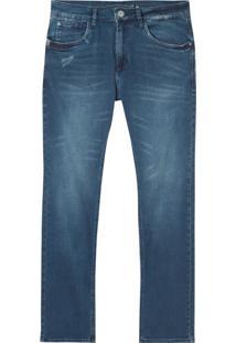 Calça John John Slim Grécia Jeans Azul Masculina (Jeans Medio, 42)