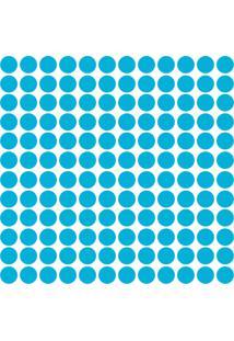 Adesivo De Parede Bolinhas Azul Celeste 144Un - Tricae