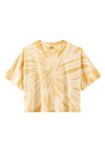 Blusa Hering Modelagem Box Tie Dye Amarelo