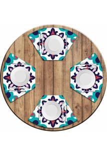 Jogo Americano Love Decor Para Mesa Redonda Wevans Mandala Color Kit Com 4 Pçs