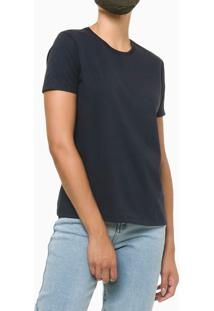 Blusa Feminina Essentials Azul Marinho Calvin Klein Jeans - P