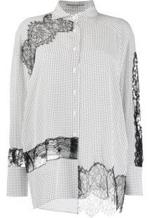 Ermanno Scervino Blusa Com Detalhe De Renda - Branco