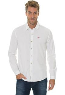 Camisa Timberland Mini Dots Masculina - Masculino-Branco