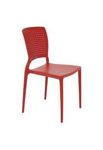 Cadeira Monobloco Safira Vermelha 92048040 Tramontina