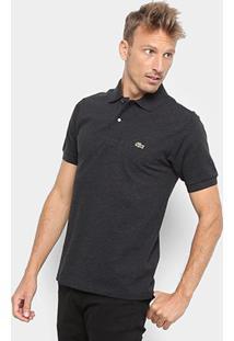 Camisa Polo Lacoste Mescla Masculina - Masculino-Mescla Claro