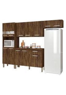 Cozinha Compacta Com Balcáo Versalhes 12 Portas Savana - Kit'S Paraná