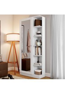 Sapateira Jhully 1 Porta Com Espelho Branco Hp - Bci Móveis