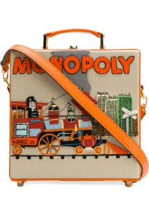 Olympia Le-Tan Bolsa Clutch 'Monopoly Train' - Laranja