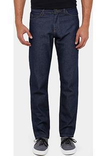 Calça Jeans Reta Rockblue Tradicional Escura Masculina - Masculino
