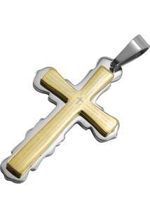 Pingente Tudo Jóias Cruz Dourado