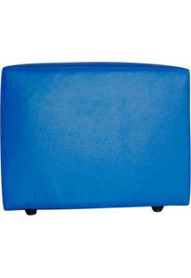 Puff Quadrado Junior Corino Azul Royal