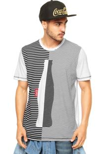 Camiseta Coca-Cola Jeans Linhas Branco