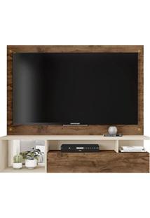 Painel Bancada Suspensa Para Tv Até 55 Polegadas 1 Porta Black Jatobá/