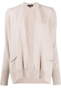 Antonelli Draped Knitted Cardigan - Neutro