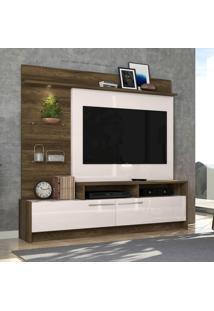 Estante Home Para Tv 60 Pol Colibri Ipanema Canela Rústico/Off White