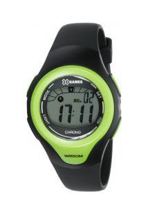 Relógio Digital X Games Xkppd030 - Feminino - Preto/Verde Cla