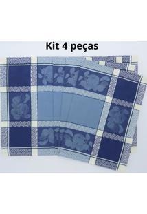 Kit De 4 Pc. Jogo Americano Marmelo Jaquarde 100% Algodão 35X47 Cm