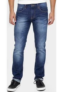 Calça Jeans Triton Gilson Skinny Stone Escura - Masculino