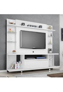 Estante Home Para Tv Até 55 Polegadas 1 Porta New Torino Móveis Bechara Branco