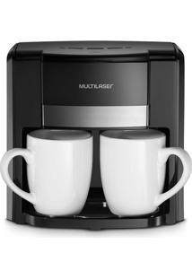 Cafeteira Elétrica 220V Com 500W 2 Xícaras + Colher Dosadora + Filtro Permanente Preta Multilaser - Be010 - Padrão