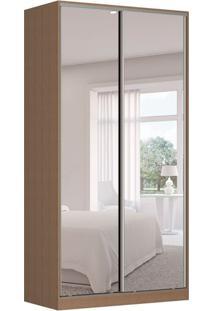 Guarda-Roupa Solteiro Com Espelho Tunas Viii 2 Pt 3 Gv Marrom