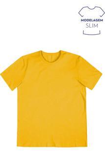 Camiseta Masculina Básica Em Algodão Em Modelagem Slim