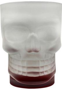 Caneca 500 Ml Caveira Skull Mug Com Base Vermelha