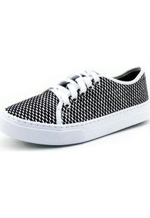 Tênis Xadrez Atron Shoes Super Confortável Preto