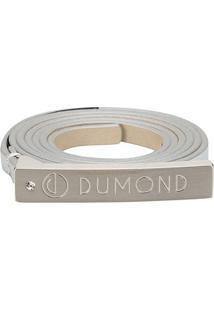 Cinto Dumond Fino Logo Feminino - Feminino-Prata