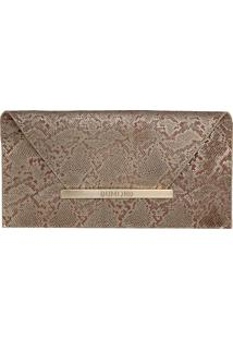 Clutch Envelope Dumond Serpente Dourada