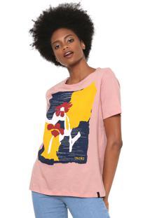 Camiseta Cantão Flowers Rosa