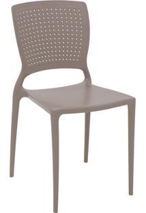 Cadeira Tramontina 92048210 Safira Em Polipropileno E Fibra De Vidro Camurça