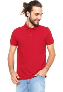 Camisa Polo Sommer Reta Vermelha