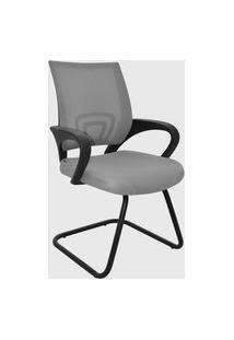 Cadeira Office Santiago Cinza Base Fixa Rivatti