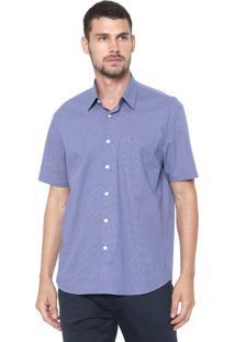 Camisa Aramis Reta Xadrez Azul/Branca