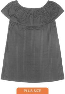 Vestido Ciganinha Cinza