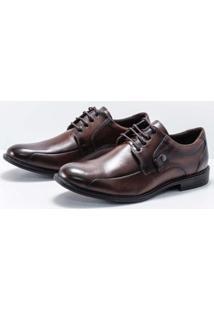 Sapato Social Couro Ferracini Bolonha Masculino - Masculino-Marrom