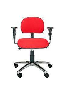 Cadeira Secretária Bits. Tecido. Braços Ajustáveis. Base Alumínio. Ajuste De Altura Do Assento E Encosto. Rodízios. Prolabore Produtos Ergonômicos