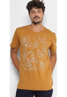 Camiseta Forum Folhagens Masculina - Masculino-Mostarda