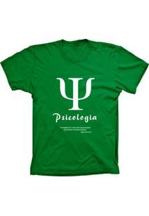 Camiseta Lu Geek Plus Size Psicologia Verde