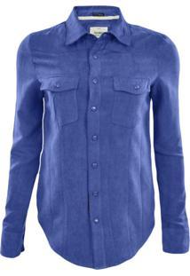 Camisa Gajang Camurça Azul