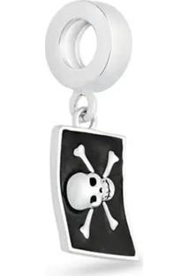 Pingente Life Bandeira Pirata Capitão Gancho Disney Vilões