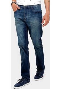 Calça Jeans Slim Ellus Laser Stone Masculina - Masculino-Jeans